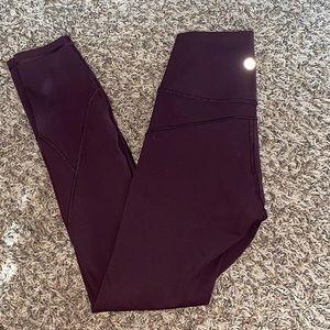 """Vintage grape"" in movement leggings!!"